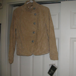 TERRY LEWIS NWTTAN  REAL SUEDE JACKET S